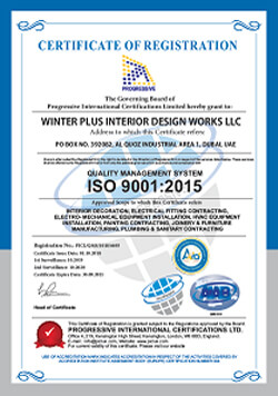 Winter Plus - ISO Certification